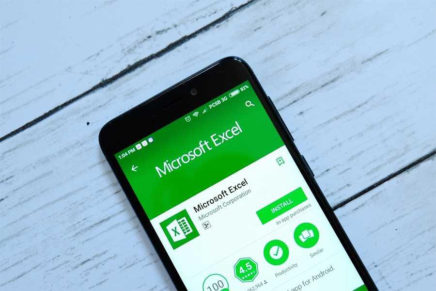 Microsoft Excel App on Mobile
