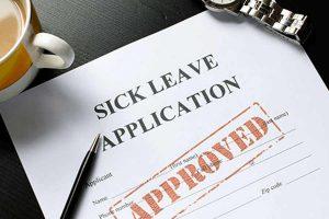 oregon sick leave application example