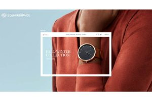 Woman Wearing a Watch on a Website Background