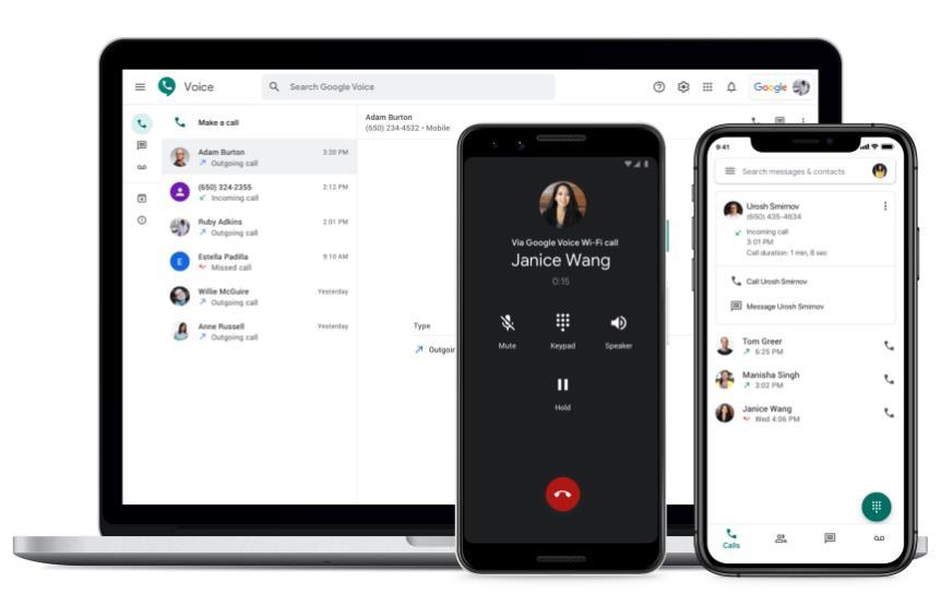 Godaddy Smartline vs google voice - Google Voice desktop and mobile apps.