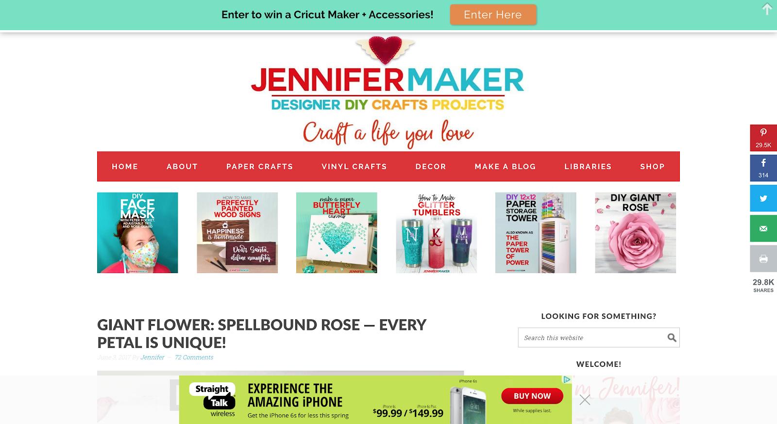 Jennifer Maker dashboard