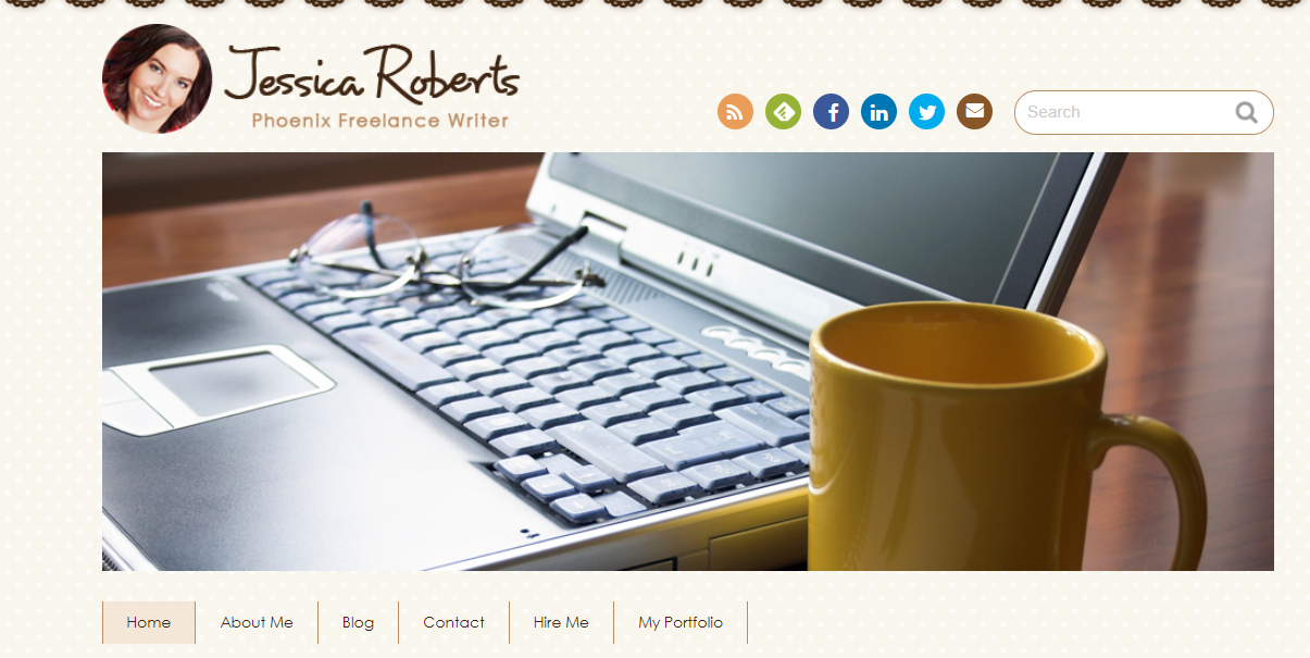 Jessica Roberts blog interface