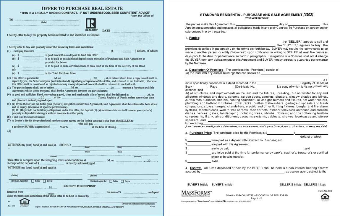Massachusetts Purchase Forms