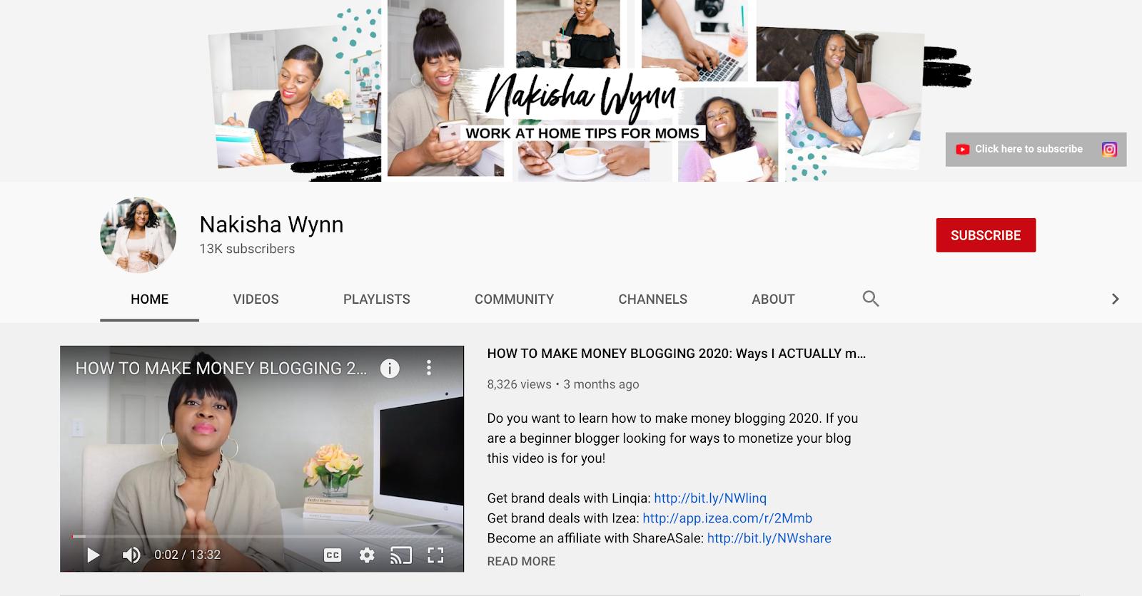 Nakisha Wynn youtube channel