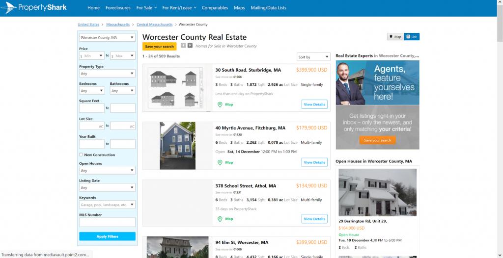 PropertyShark Free Property Search Data Sample