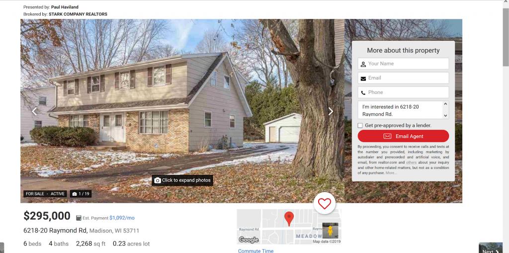 Realtor.com Sample Duplex for Sale