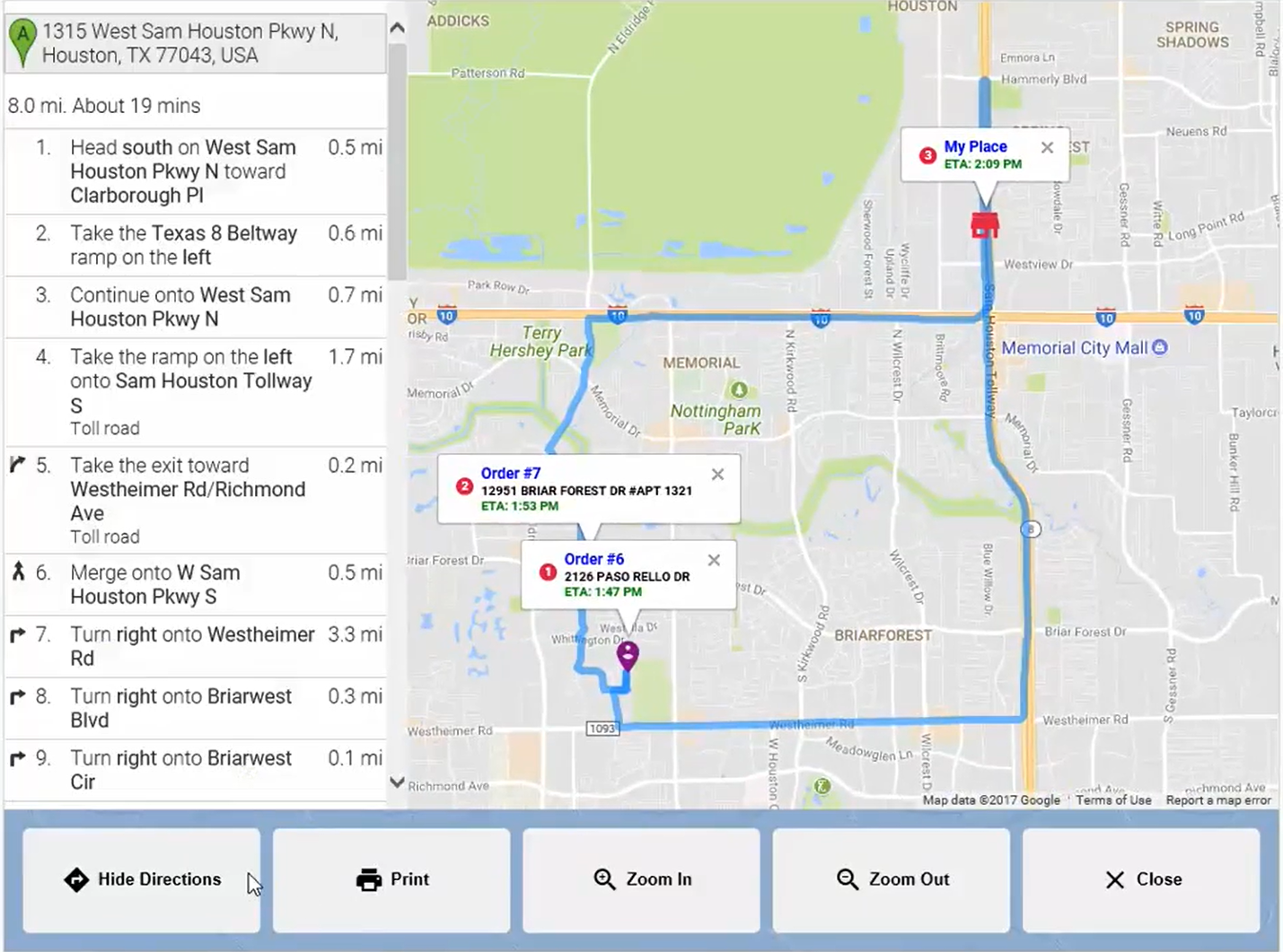 Revention's Map EyeDeliver® feature
