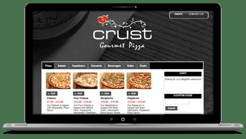 Revention online menu dashboard on laptop