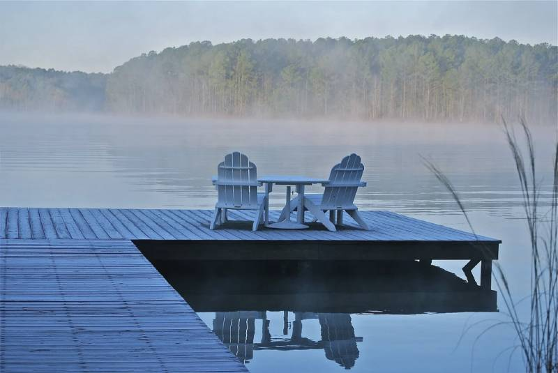 Lake and Chair