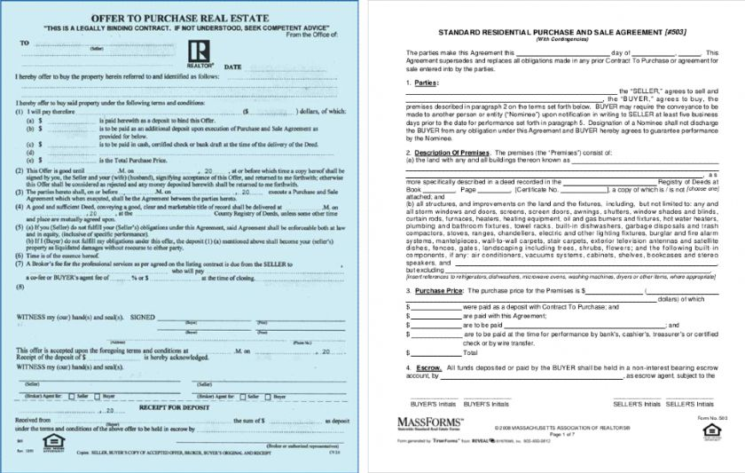 Massachusetts Purchase Forms