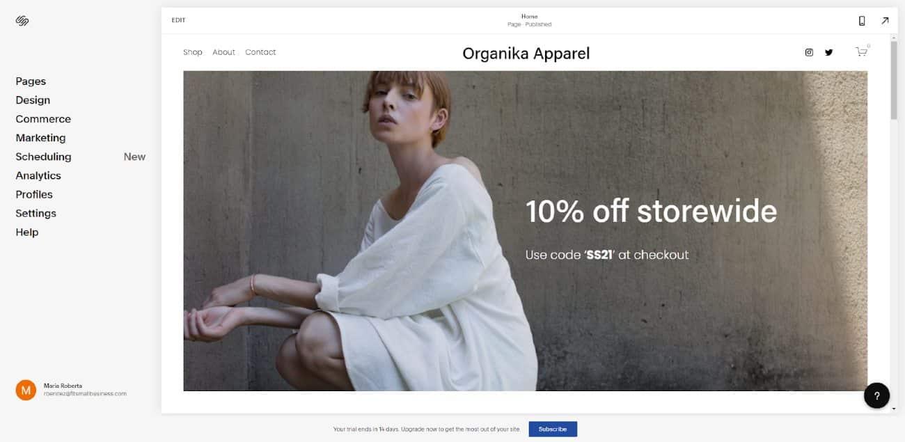 Screenshot of Customizing Your Website