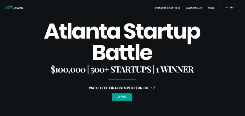 Screenshot of Startup Battle Interface