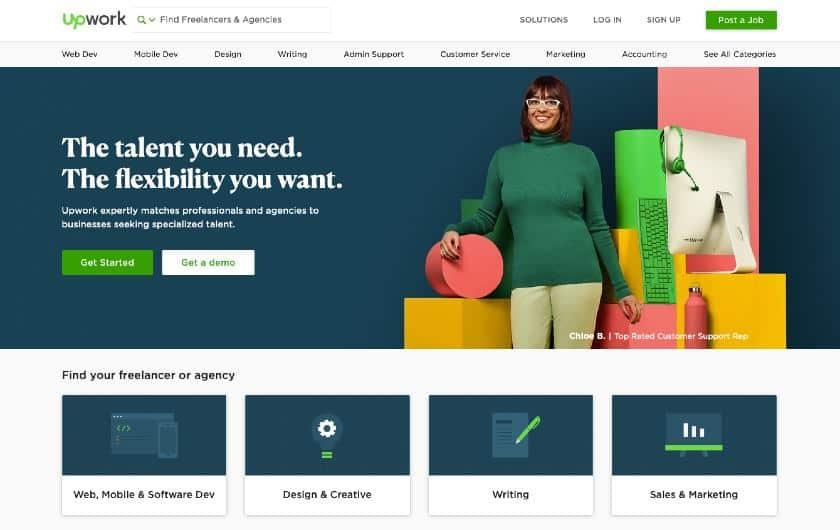 Screenshot of Upwork Interface