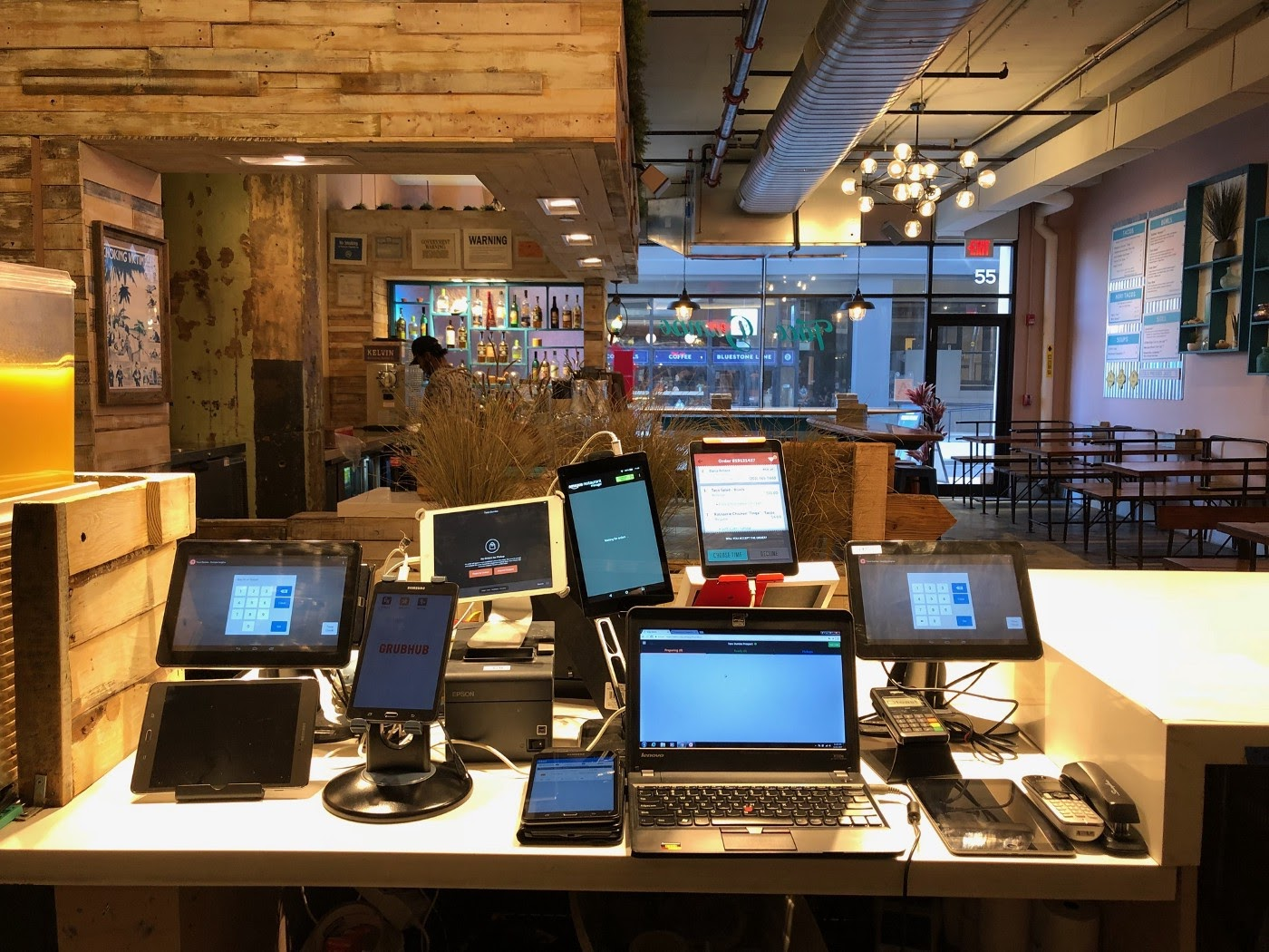 Tablets on the counter