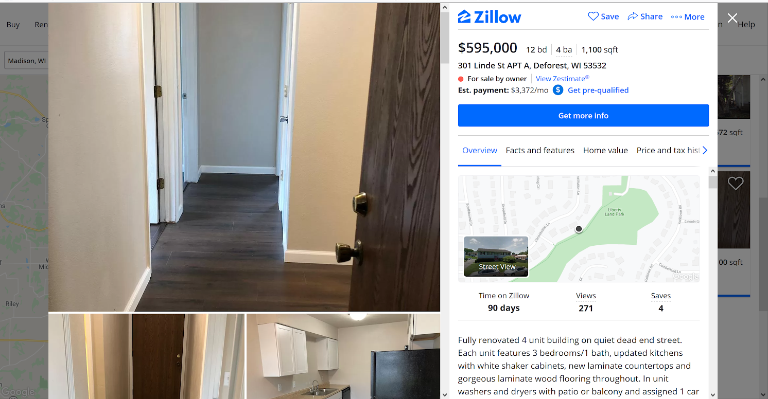 Zillow.com Sample Investment Properties for Sale