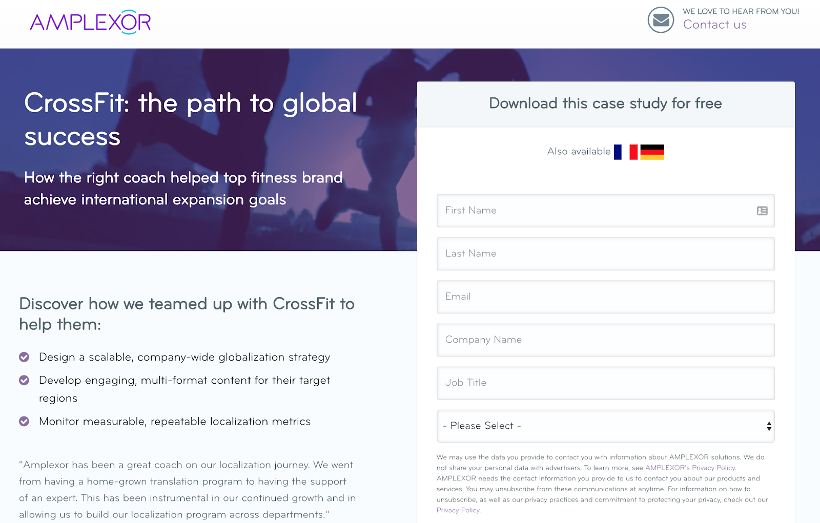 amplexor download page of free case study
