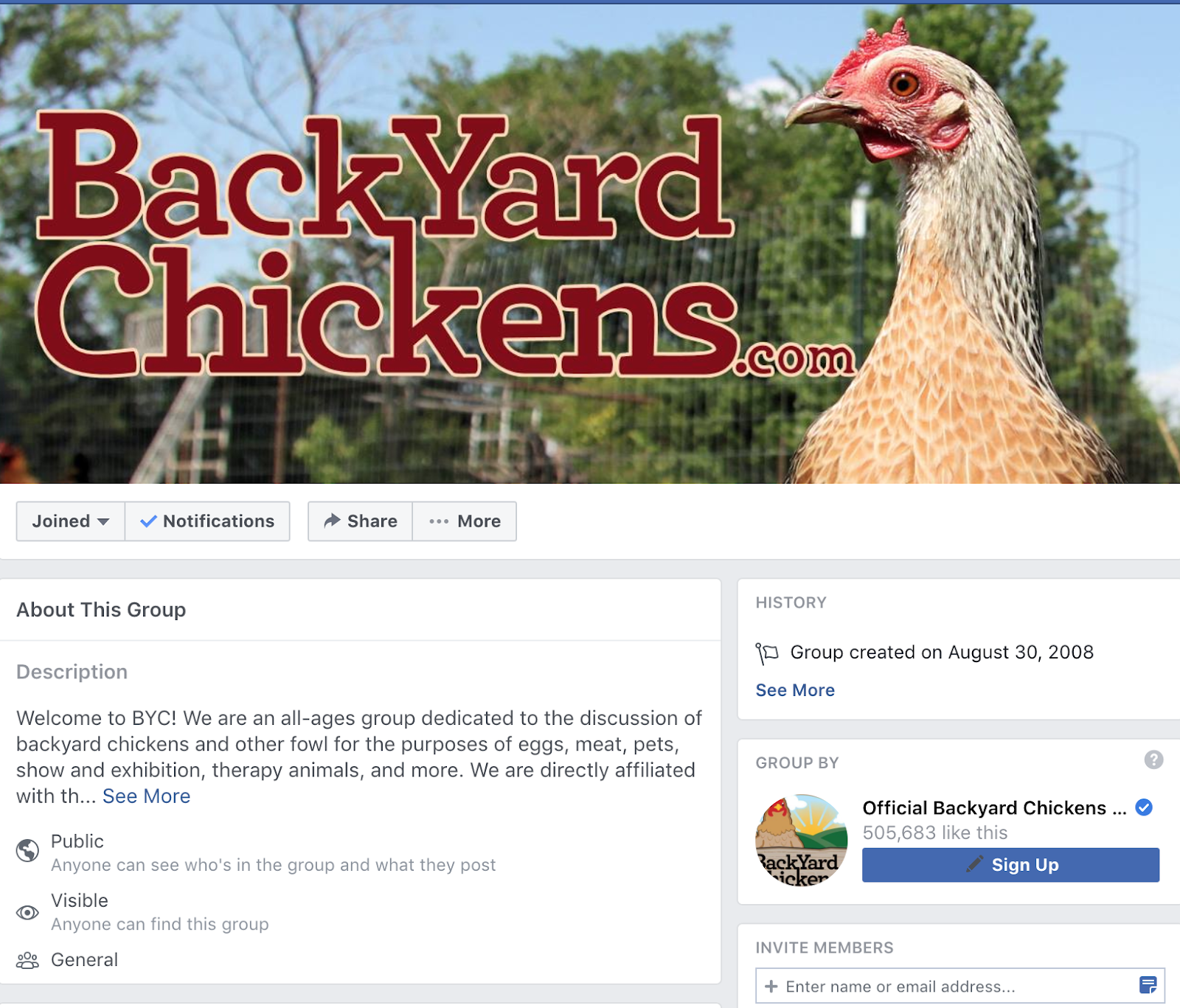 backyard chickens facebook group