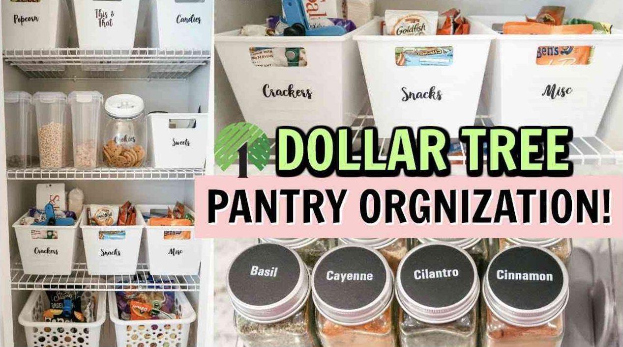 dollar tree pantry orgnization