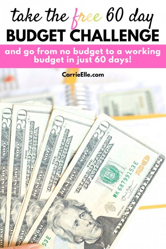 free 60 day budget challenge by carrie elle