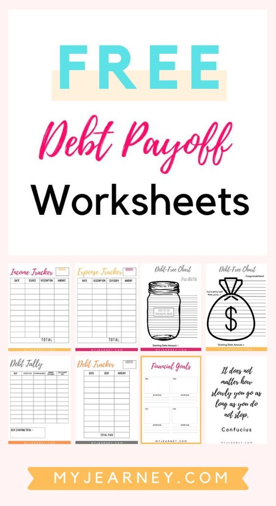 free debt payoff worksheets by myjearney