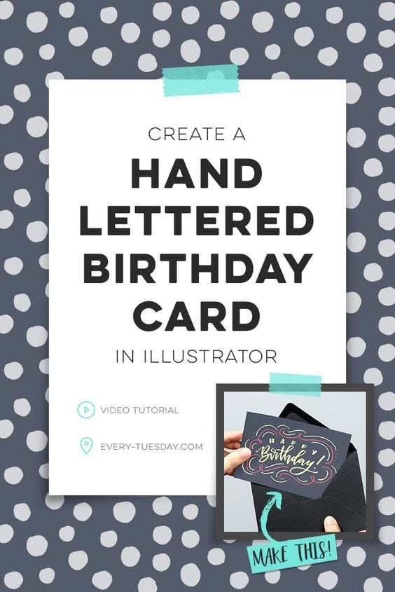 hand lettered birthday card tutorial