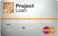 Home Depot Project Loan card
