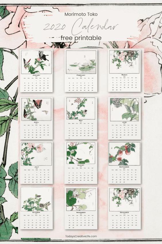 morimoto toko 2020 calendar