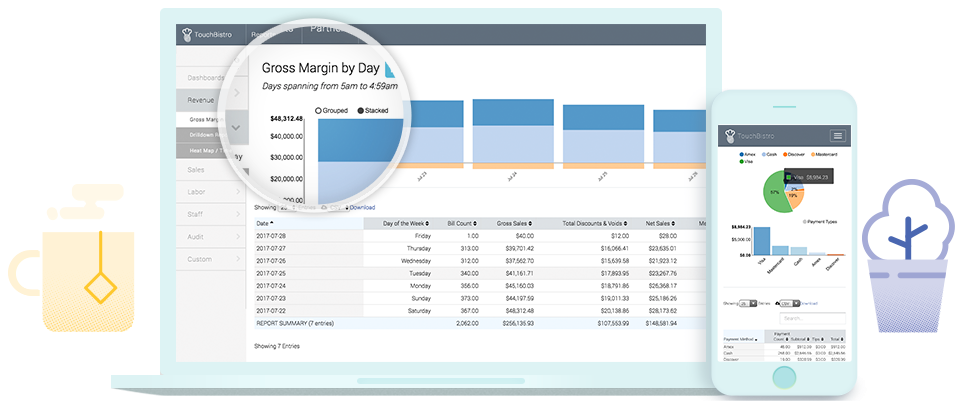 TouchBistro's reporting and analytics features
