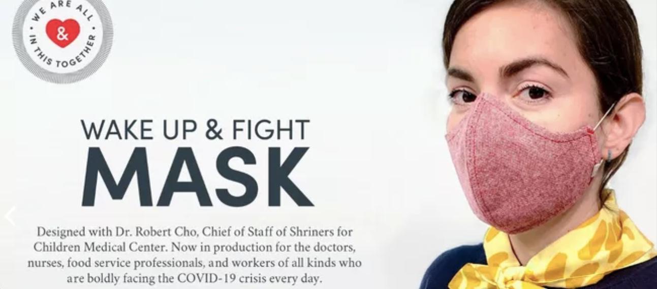 Wake Up & Fight Mask