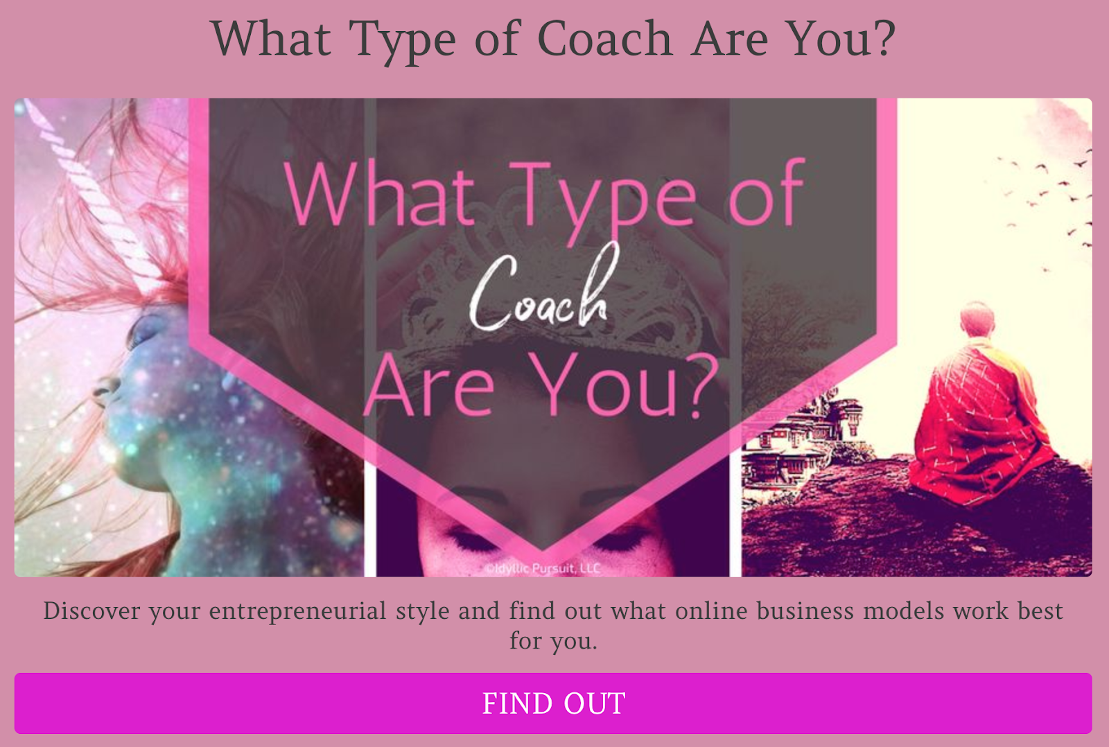 what type of coach are you quiz