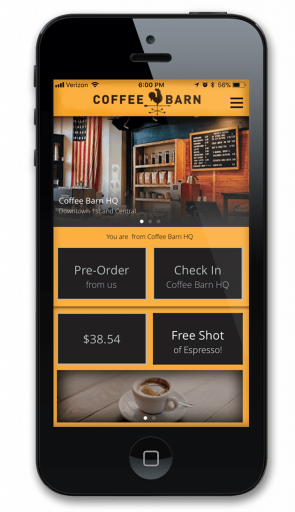 Lavu's customer loyalty app on mobile phone