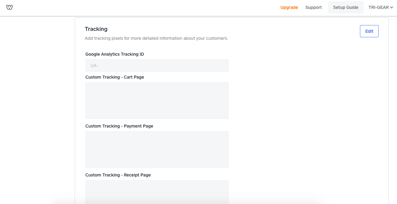 Adding Google Analytics Tracking ID to Weebly Website