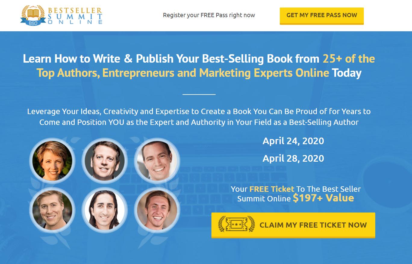 Bestseller Online Summit interface
