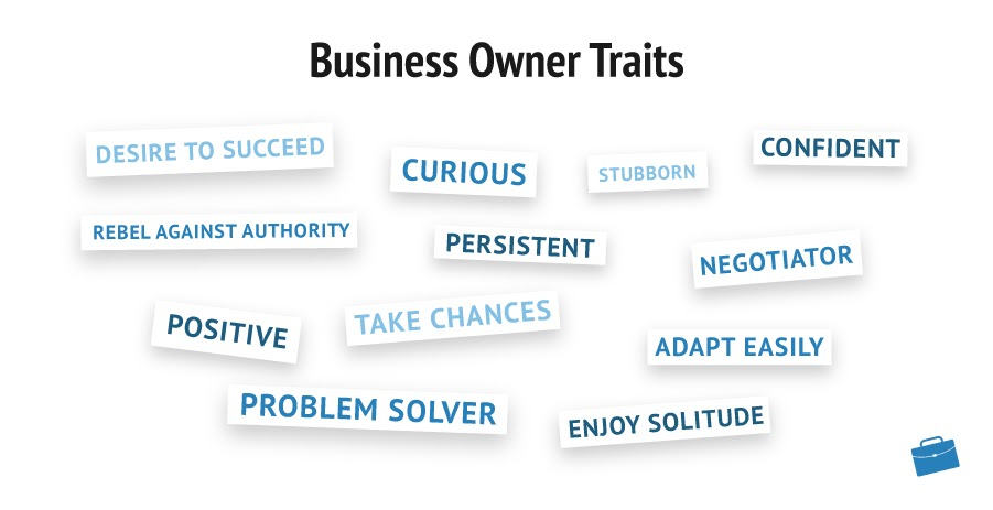 Business Owner Traits infographic