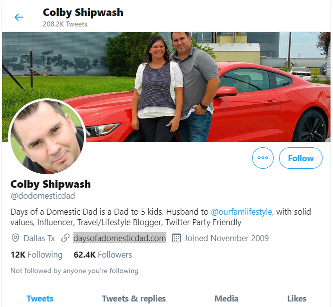 Colby Shipwatch of the Days of Domestic Dad blog
