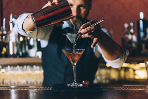 Barman Making Cocktail