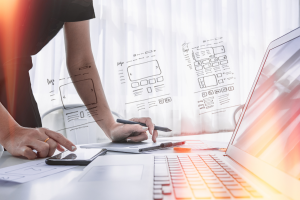 ux designer designing web brand phone smartphone
