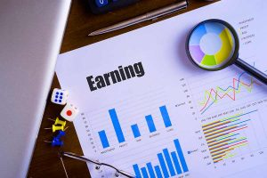 chart and data for earning