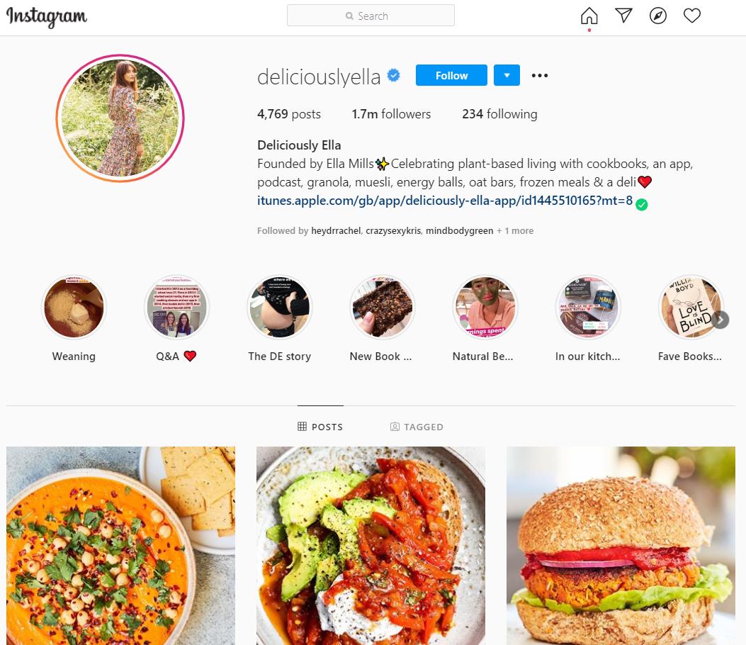 Food blogger Ella Mills