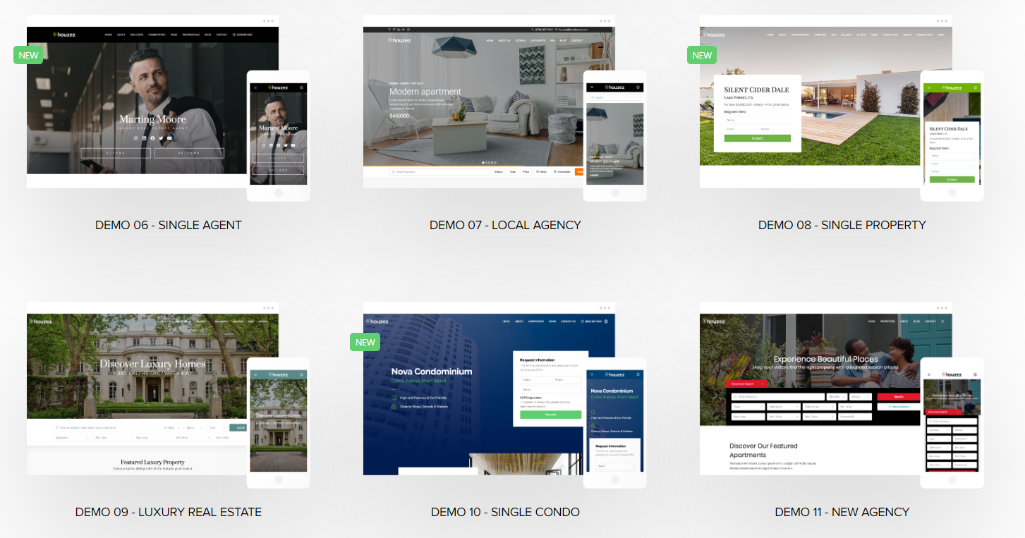Houzez WordPress Theme Demo Layouts