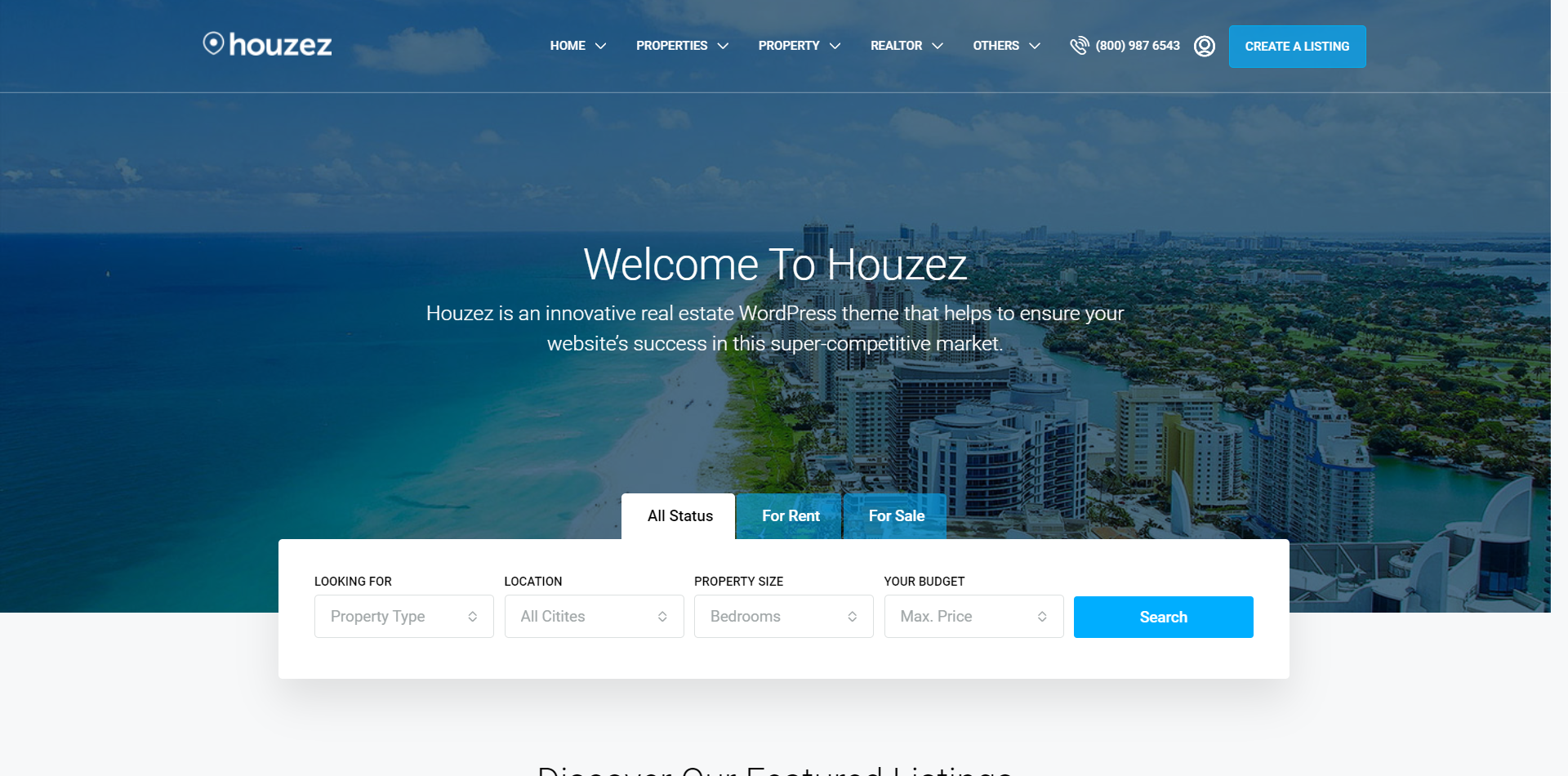 Houzez WordPress Theme - Listing template screenshot