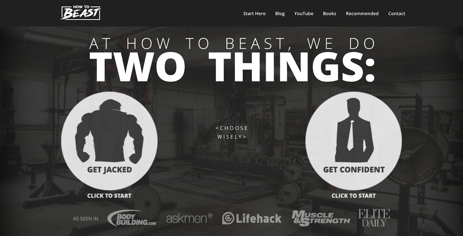 How to Beast blog interface