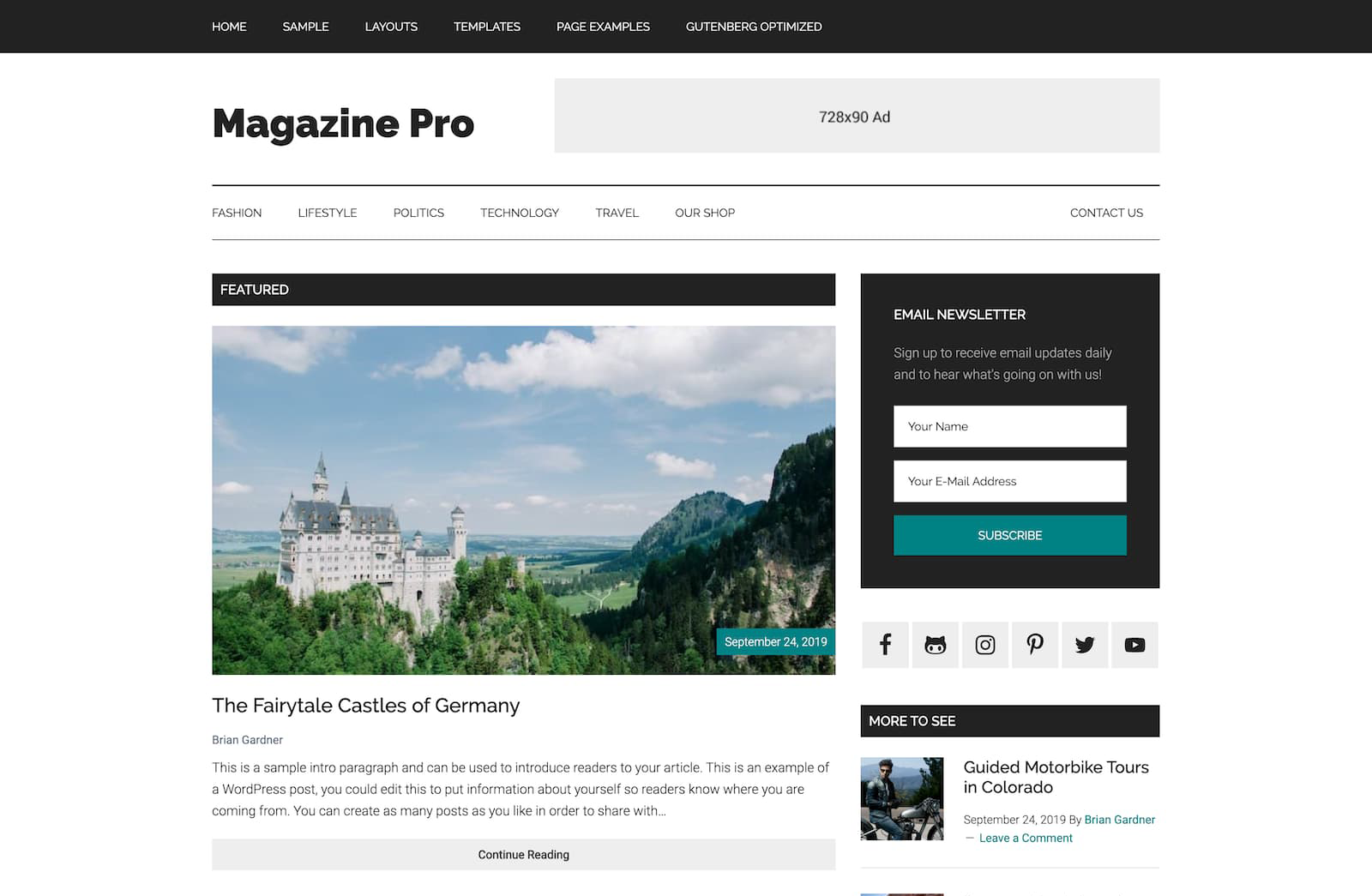 Magazine Pro WordPress Theme Homepage Screenshot
