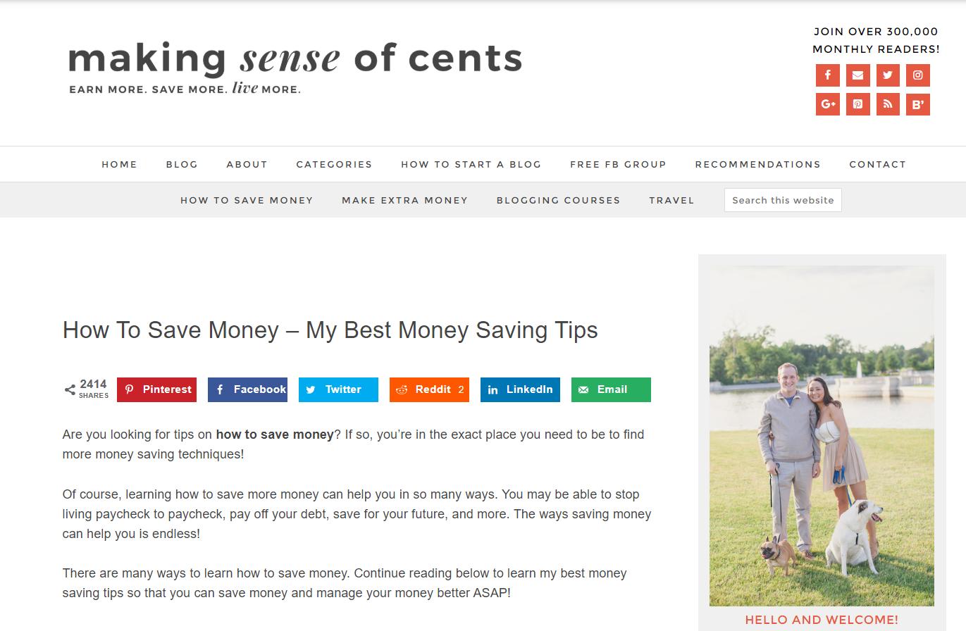Making Sense of Cents blog