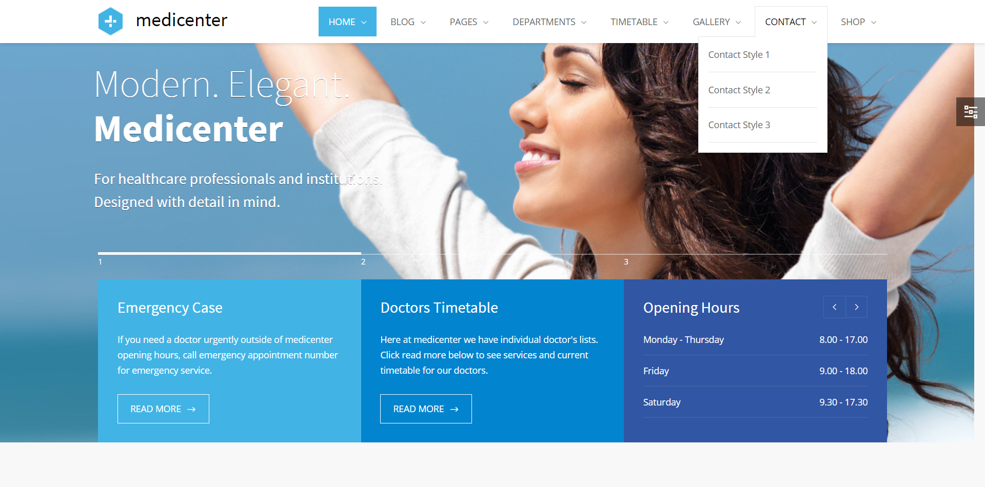 Medicenter medical WordPress Theme screenshot