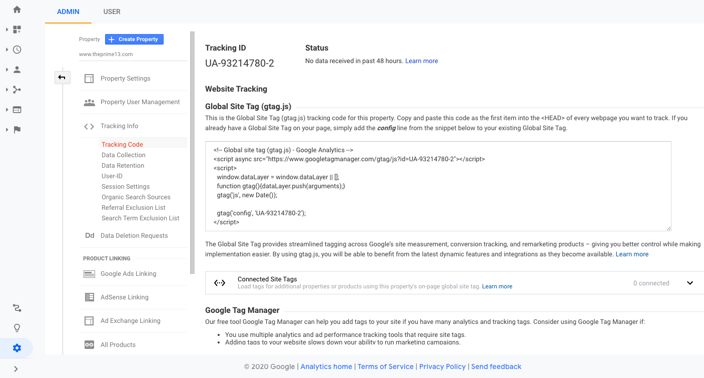 New Google Analytics ID