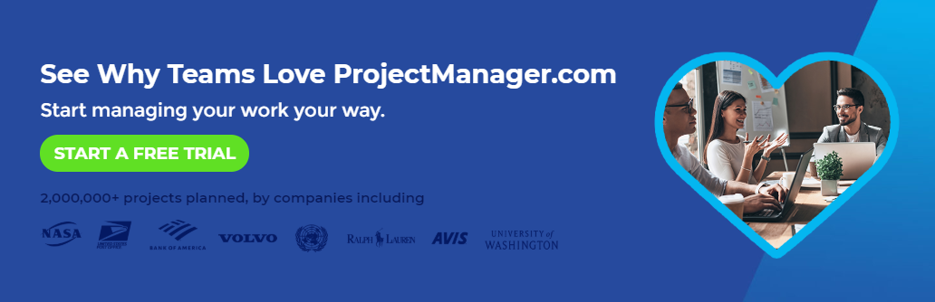 Project Manager free trial interface