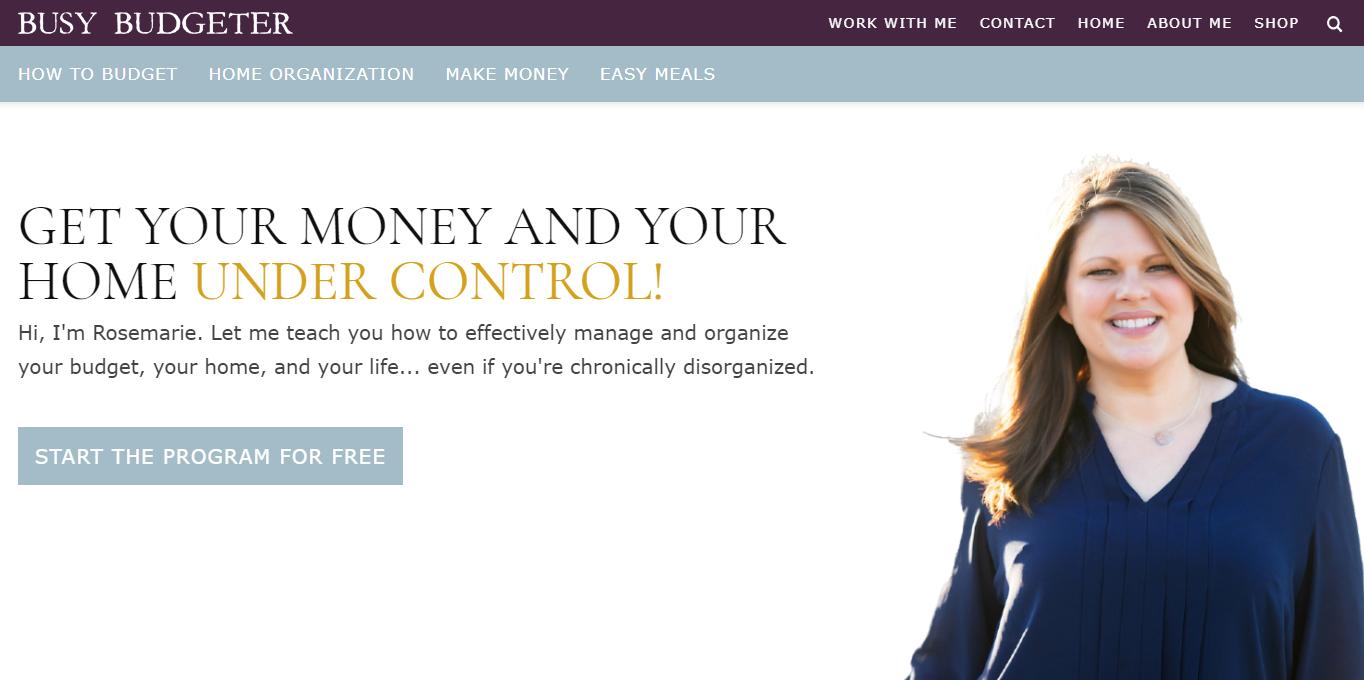 Rosemarie Groner's Busy Budgeter blog