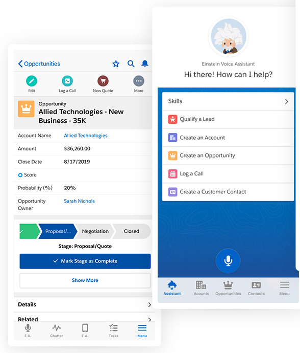 Salesforce Essentials mobile CRM app