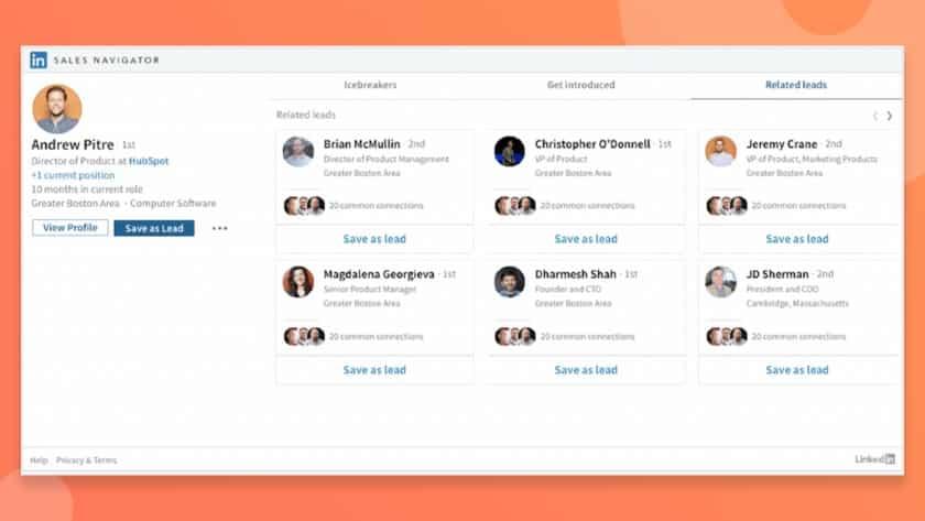 LinkedIn Sales Navigator integration in HubSpot Sales Hub